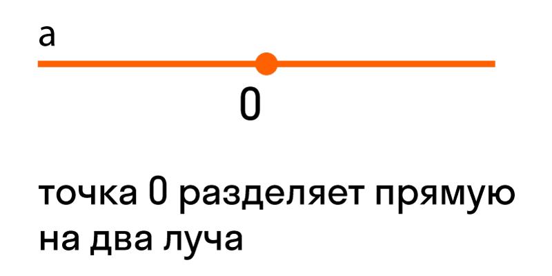 точка разделяет прямую