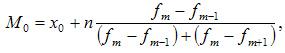 Формула вычисление наиболее часто встречающегося значения