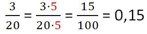 Пример перевода десятичной дроби