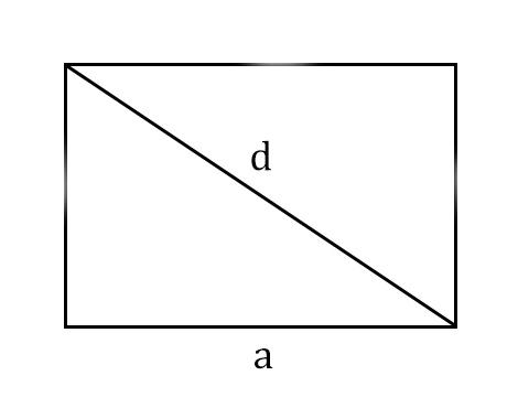 прямоугольник с диагональю