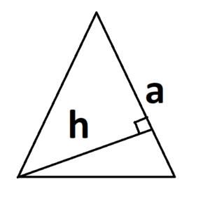 площадь треугольника с основанием