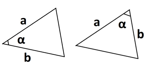 площадь треугольника если известны две стороны синуса