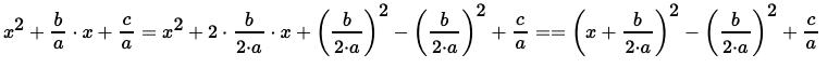 выделение полного квадрата левой части нового уравнения