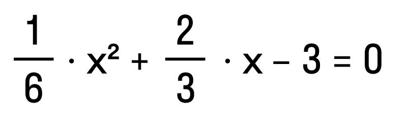 условие квадратного уравнения