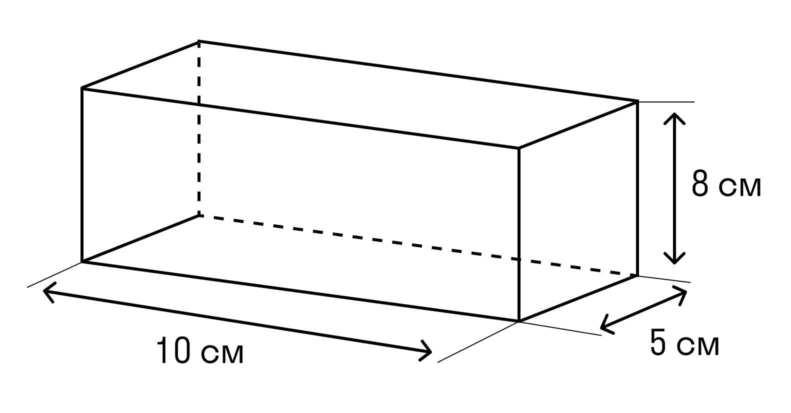 Задача на нахождение суммы длины всех ребер параллелепипеда и площадь его поверхности