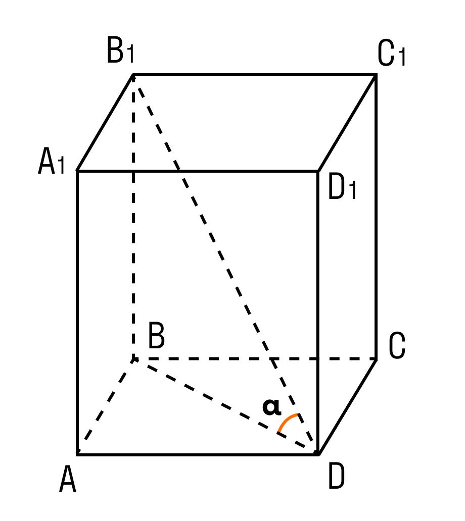 Задача на нахождение диагонали прямоугольного параллелепипеда