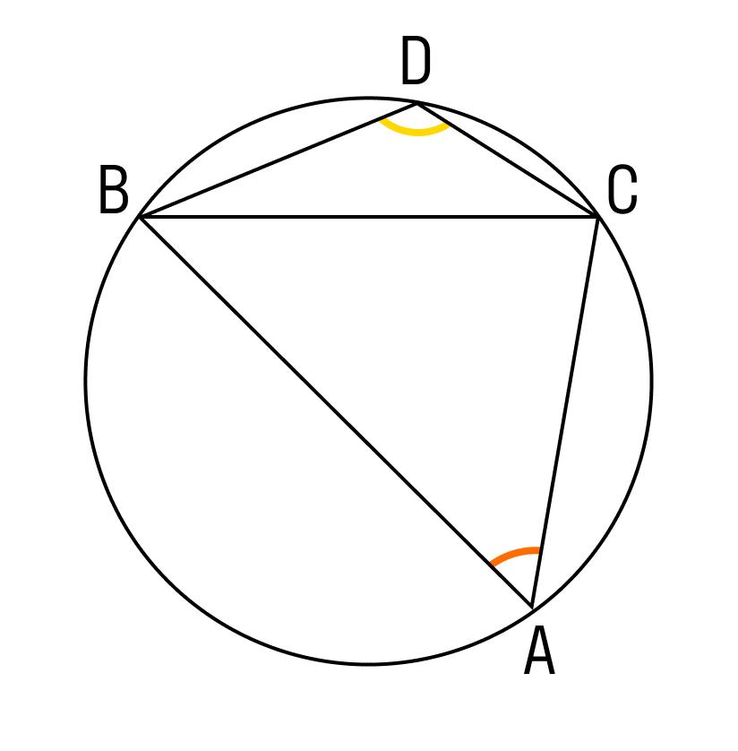 Два вписанных угла опираются на одну хорду