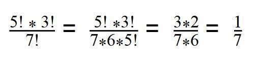 Как решить выражение с факториалами