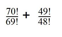 Сложное выражение с факториалами