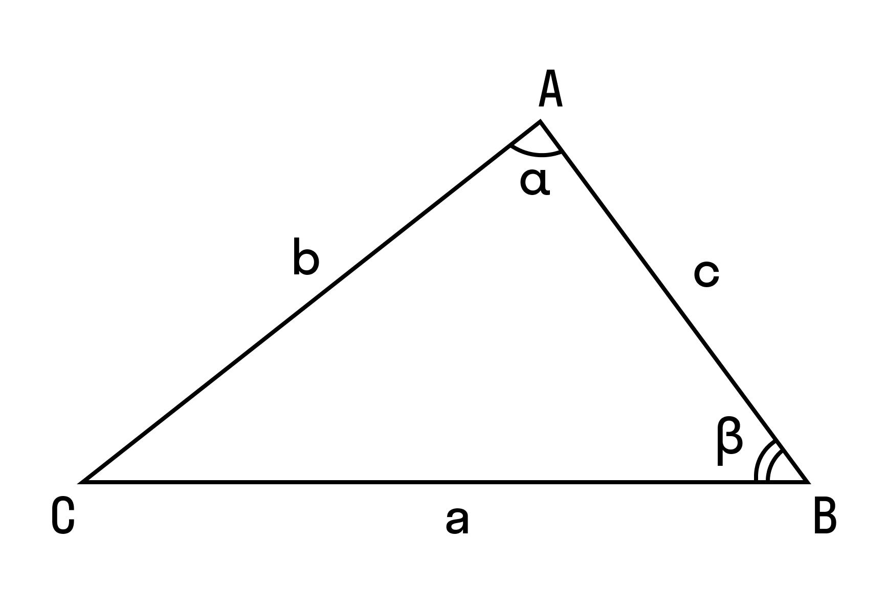 Формула теоремы косинусов