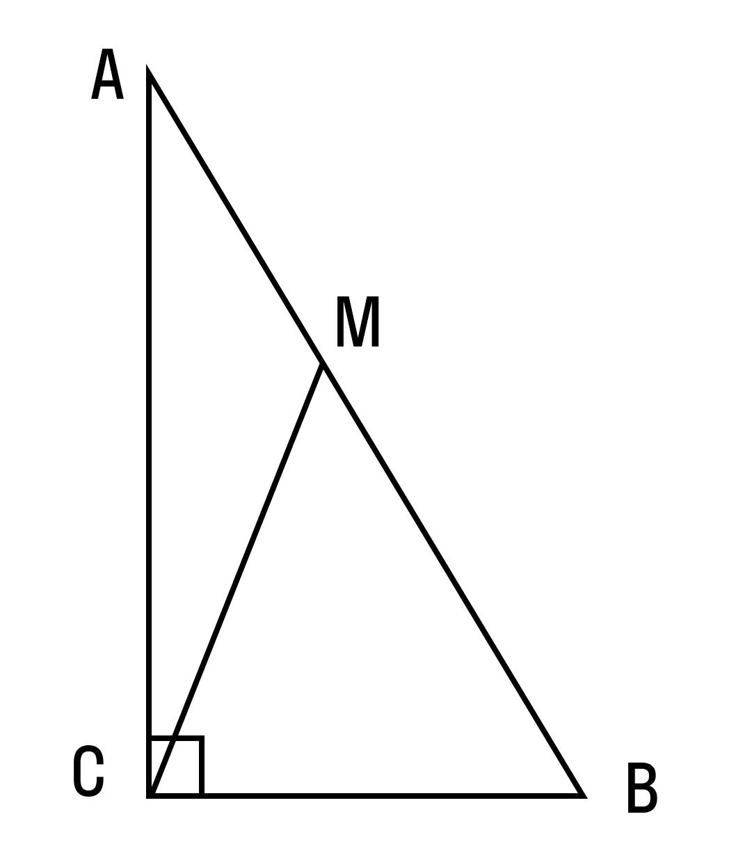 Дан треугольник АВС. Найти длину СМ