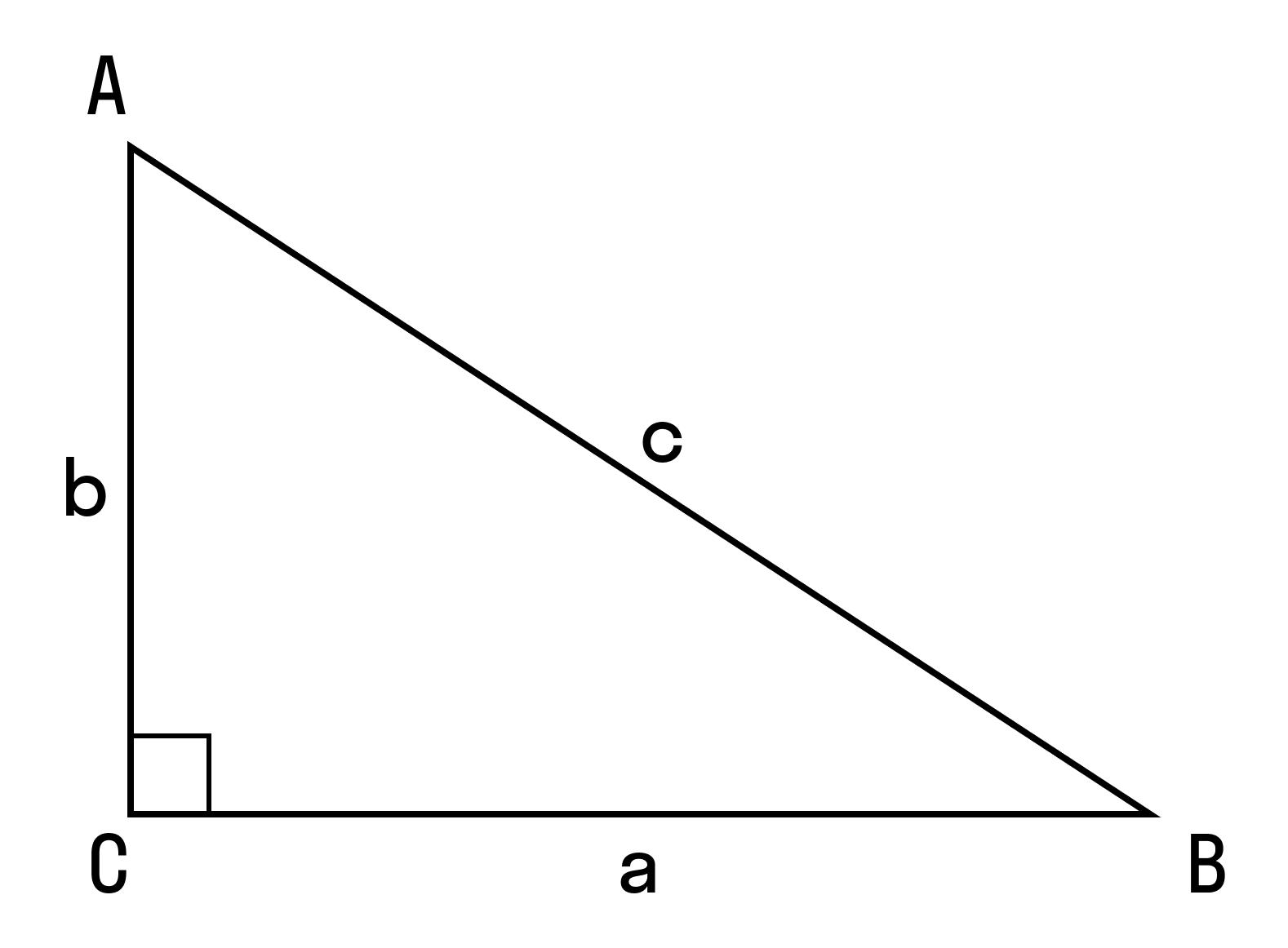 с помощью теоремы косинусов можно определить тупой угол или острый.