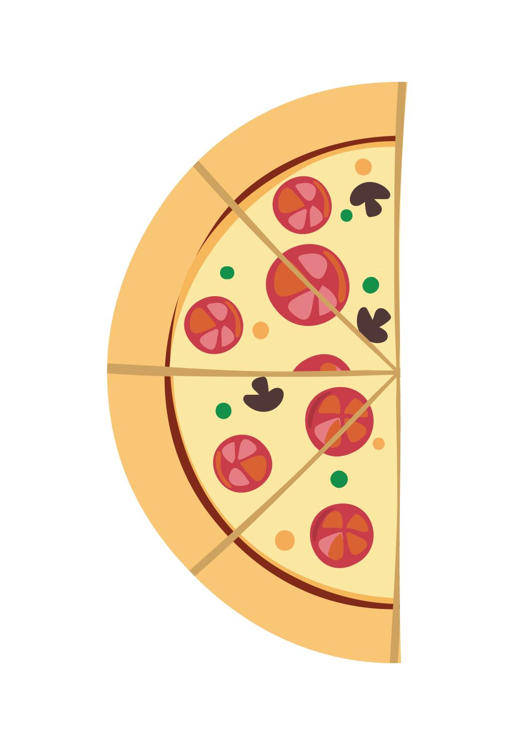 Пропорция на примере пиццы 2