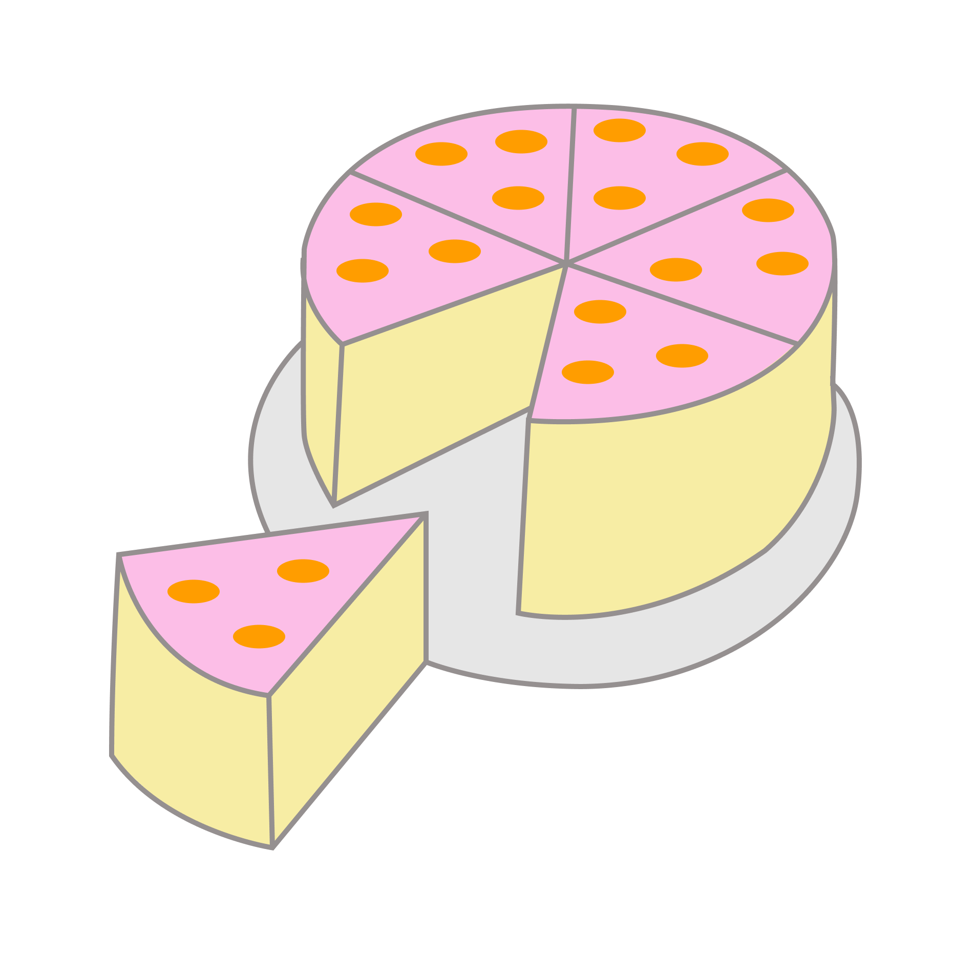 Дроби на примере торта