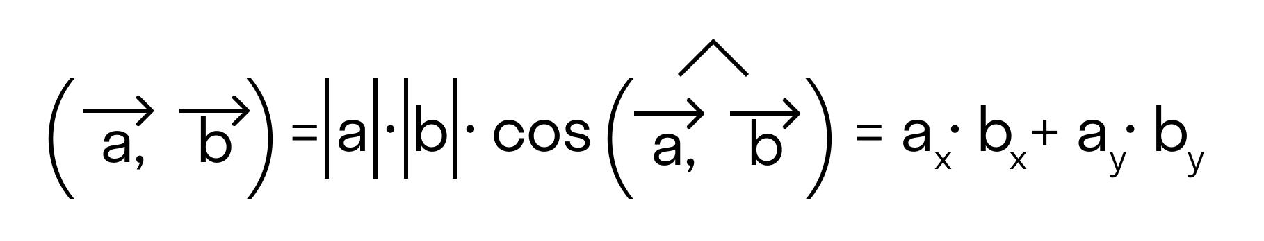 Скалярное произведение в координатах