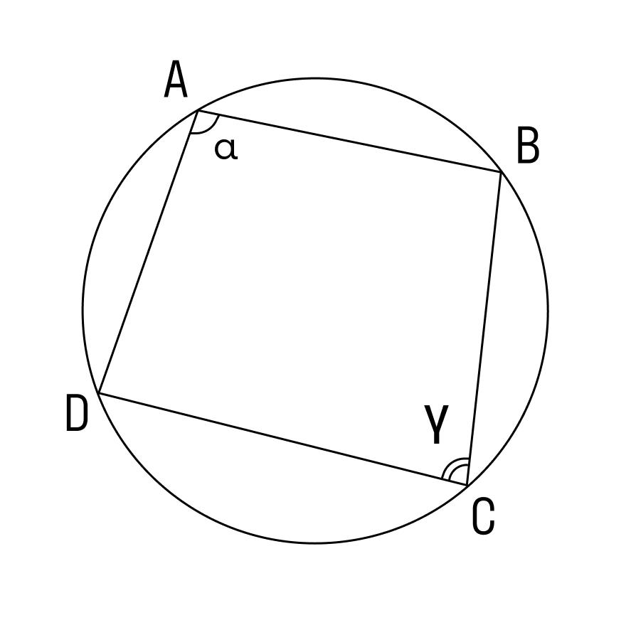 Следствие 3 из теоремы о вписанном в окружность угле