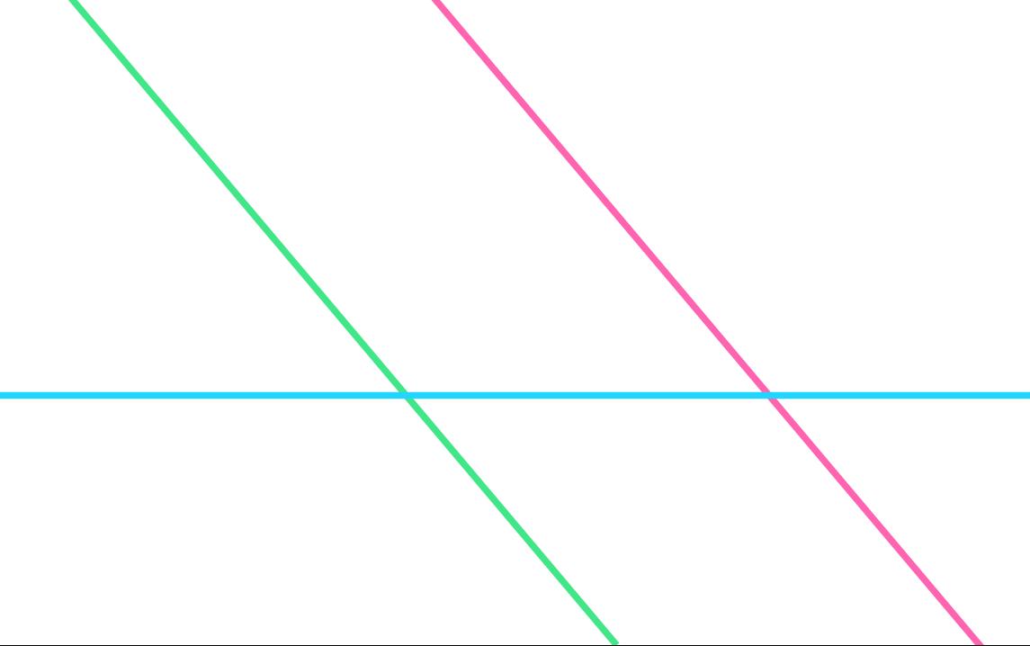 две прямые параллельны, а третья их пересекает