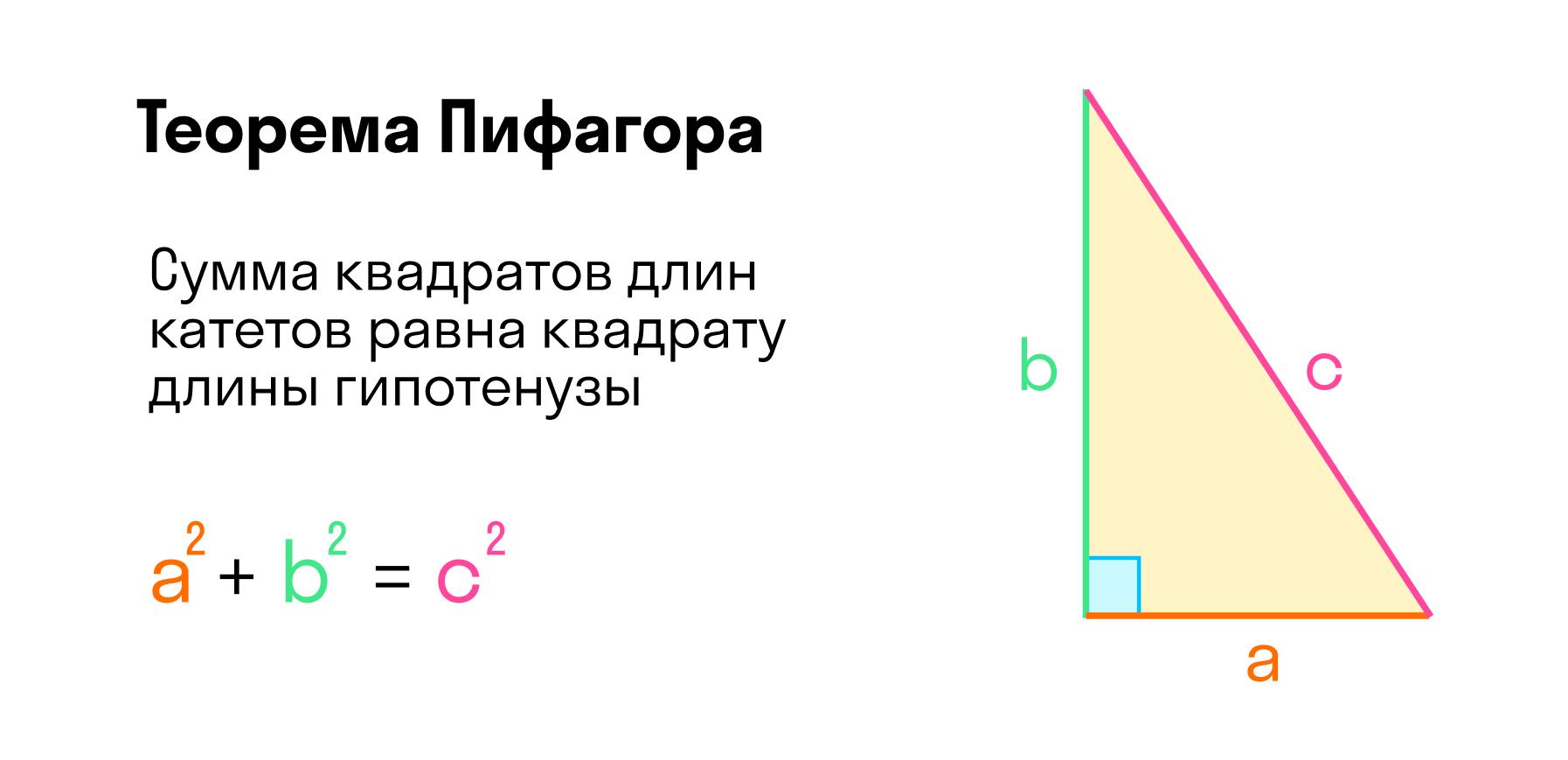 Свойства прямоугольного треугольника