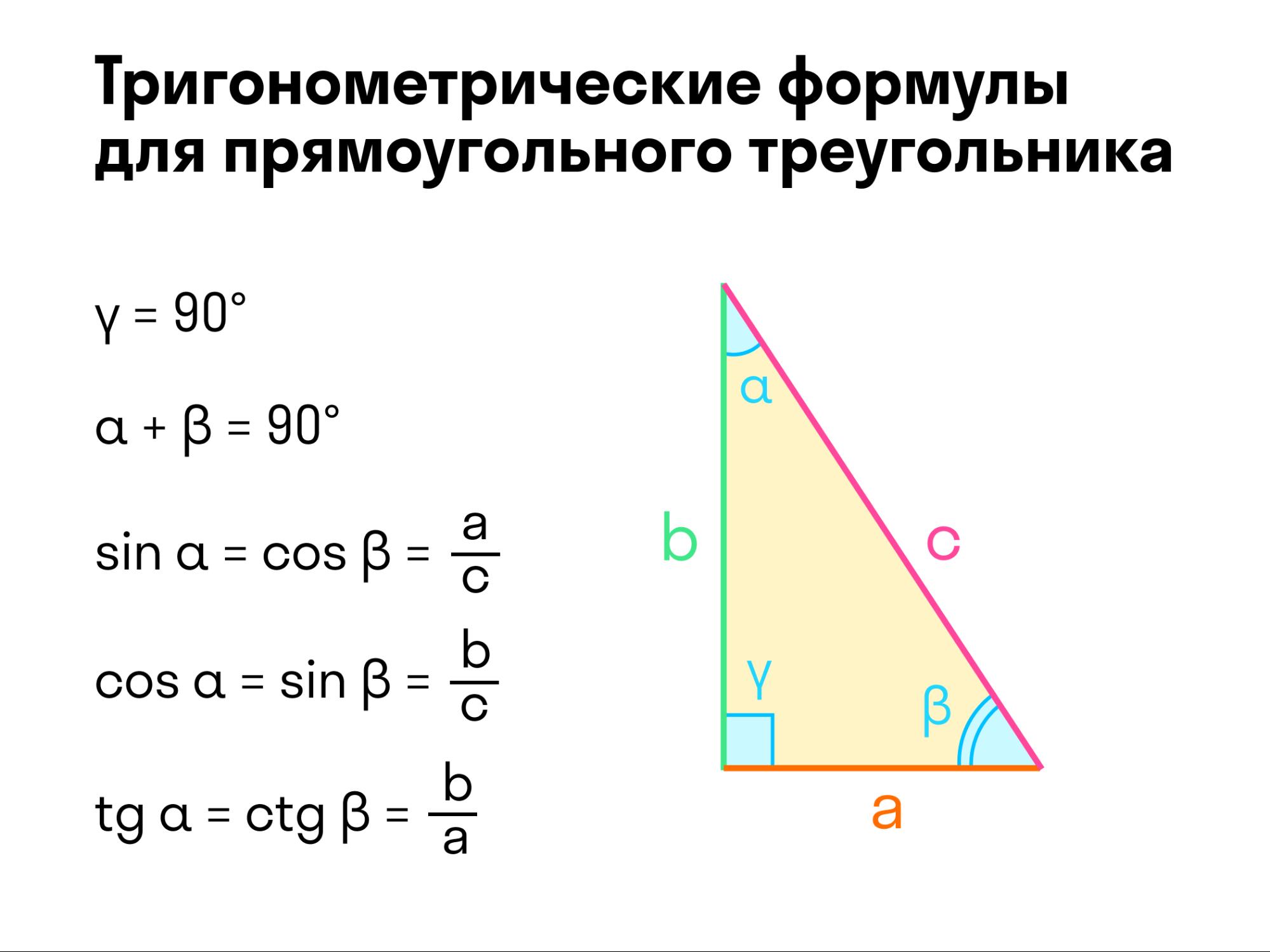 тригонометрическая формула