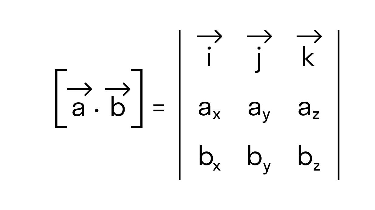 антикоммутативности векторного произведения
