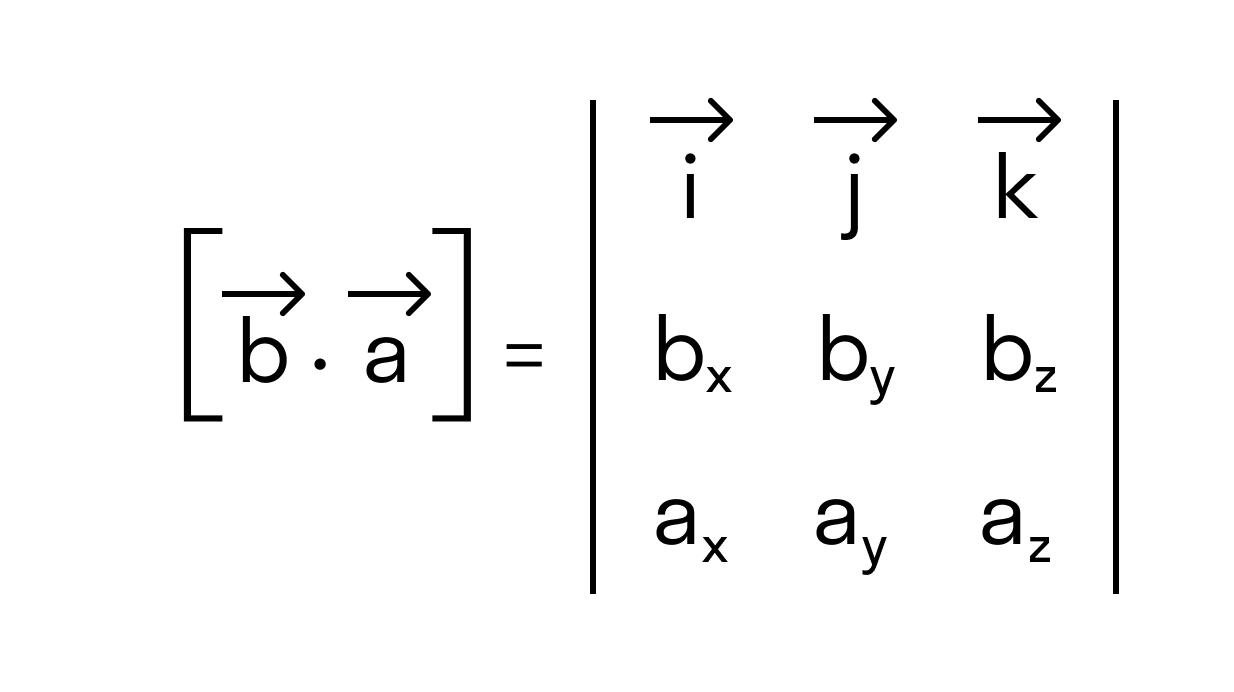 антикоммутативности векторного произведения рис 2