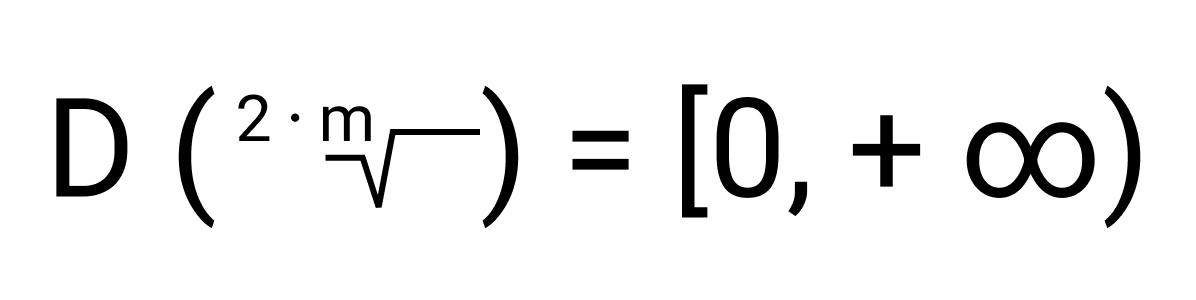 Область определения корня зависит от четности или нечетности показателя: