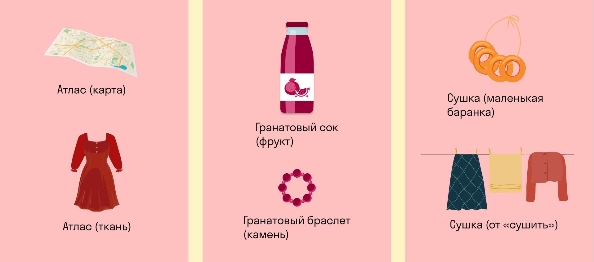 примеры омонимов