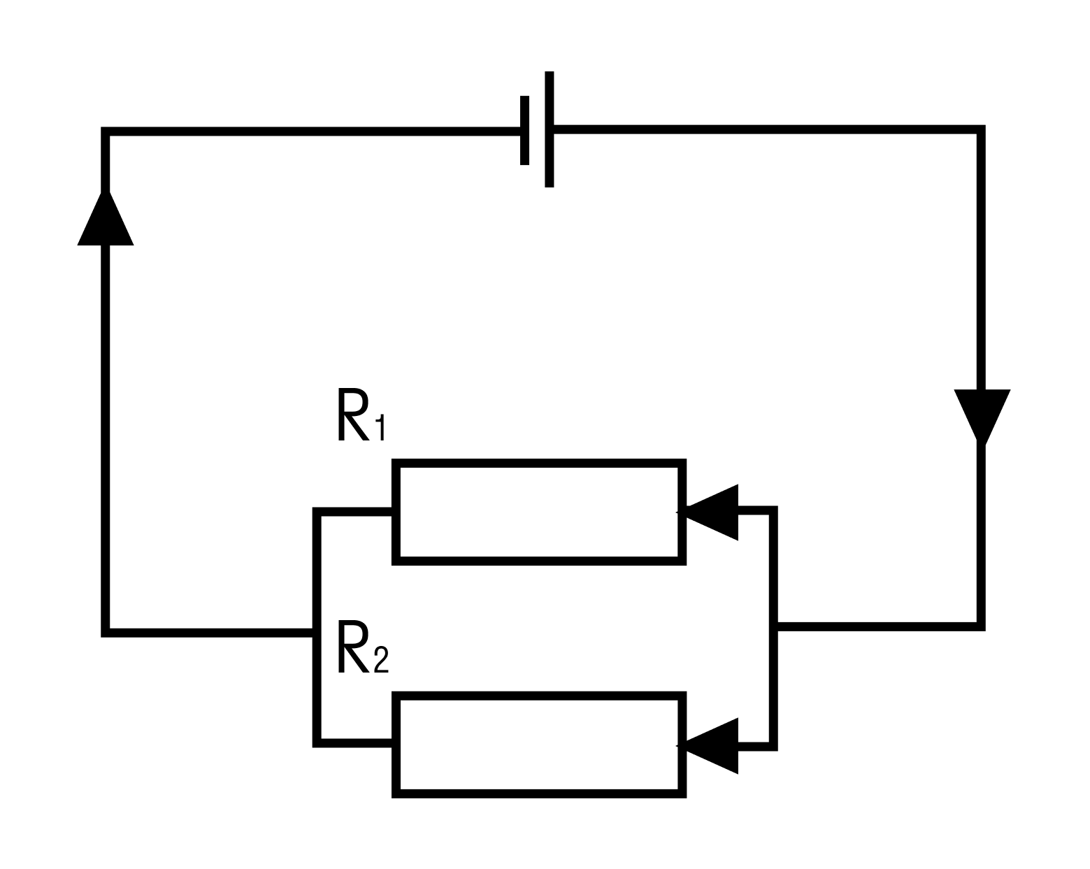 Между резисторами есть два узла