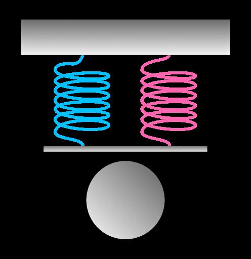 параллельное соединение систем пружин