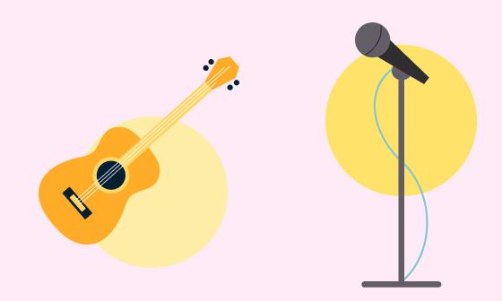 Гитара и микрофон