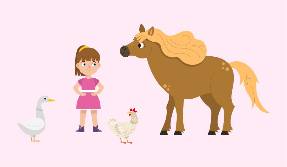 Девочка и животные