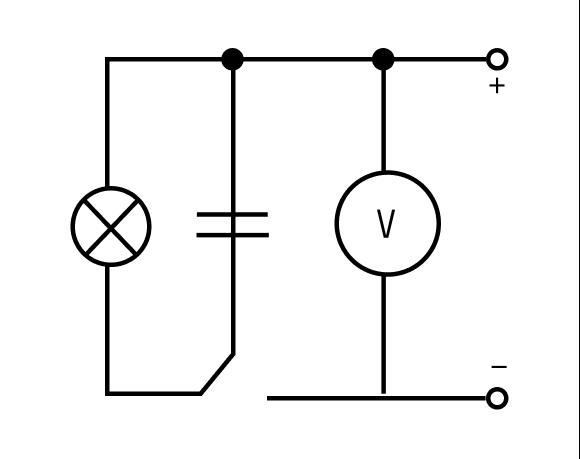 Электрическая цепь с конденсатором