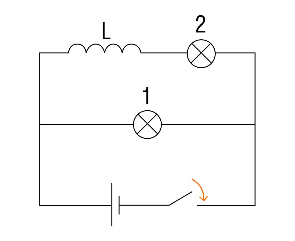 Электрическая цепь с двумя лампами