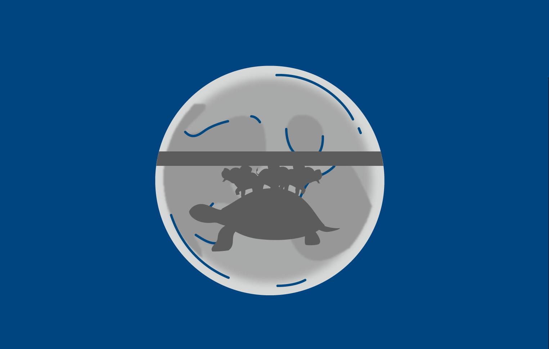 Тень от плоской Земли на Луне