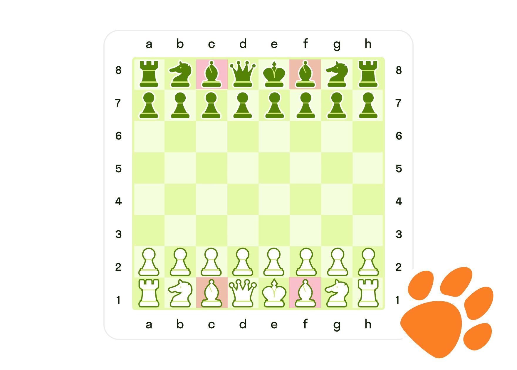 Где на шахматной доске стоят слоны