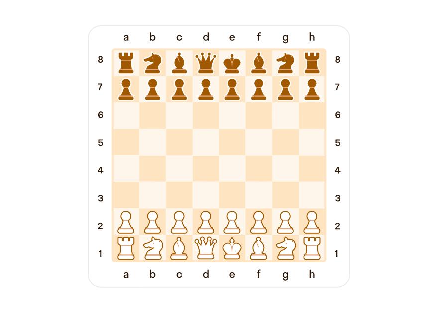Начальная расстановка шахмат