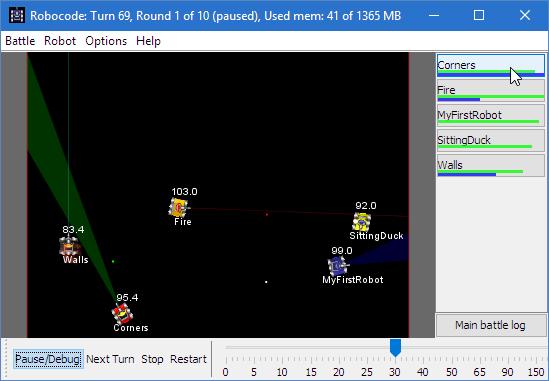 Скриншот Robo code
