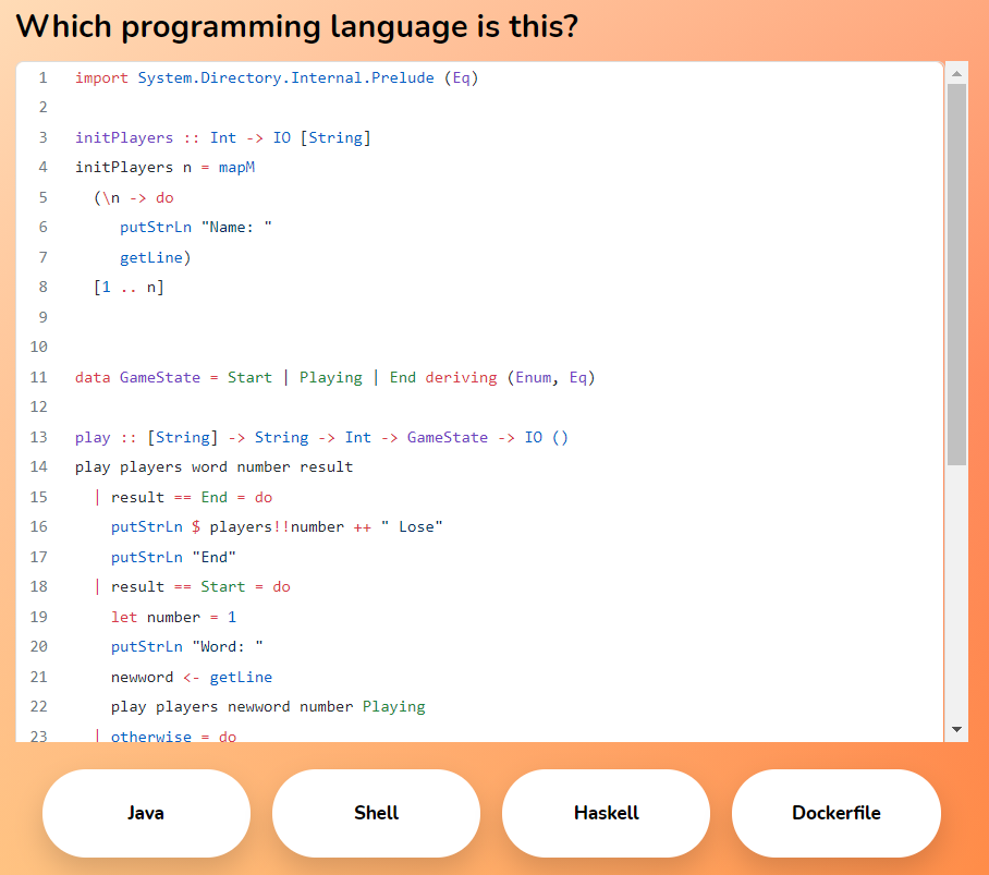Обучающая игра Guess This Code